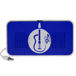 Blue Acoustic Guitar Notebook Speakers