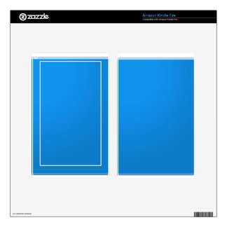 Blue Acrylic Color Tone shows depth n elegance Decal For Kindle Fire
