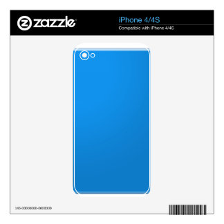 Blue Acrylic Color Tone shows depth n elegance Decals For iPhone 4S