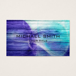 Blue Acrylic Painting on Wood #2 Business Card