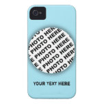 Blue Add Photo Blackberry Bold Case 2