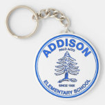 Blue Addison Keychain