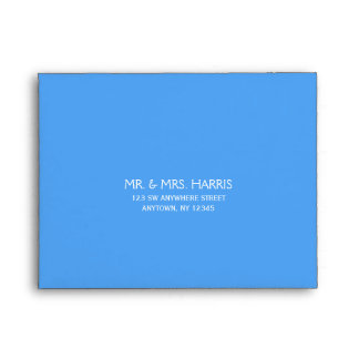 Blue Address A2 RSVP Envelope