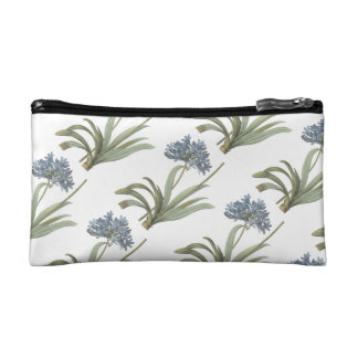 blue African lily(Agapanthus) by Redouté Cosmetic Bag