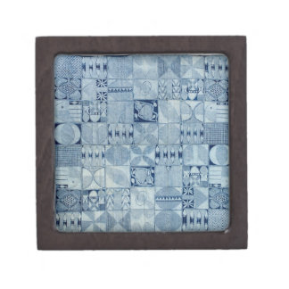 BLUE AFRICAN TEXTILE GIFT BOX