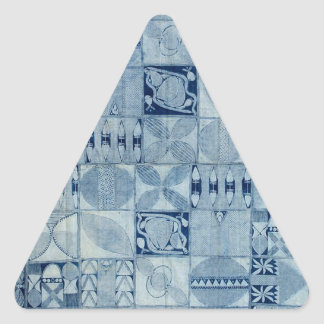 BLUE AFRICAN TEXTILE TRIANGLE STICKER