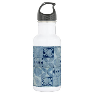 BLUE AFRICAN TEXTILE WATER BOTTLE