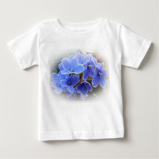 Blue African Violets Baby T-Shirt
