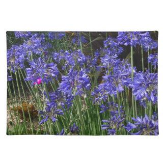 Blue Agapanthus Flowers Placemat