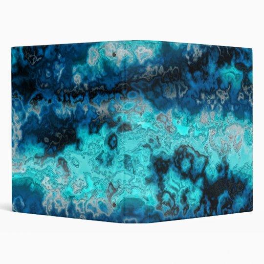 Blue Agate 3 Ring Binder