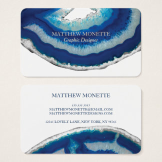 Blue Agate Business Card