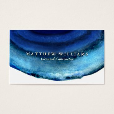 Professional Business Blue Agate Business Cards