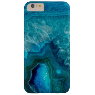 Blue Agate Crystal Geode Barely There iPhone 6 Plus Case