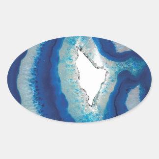 Blue Agate Oval Sticker