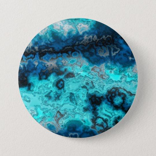 Blue Agate Pinback Button