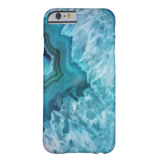 Blue Agate Semi Precious Gemstone Geode Crystal Barely There iPhone 6 Case
