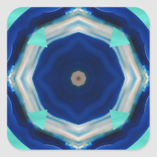 Blue Agate Series Square Sticker