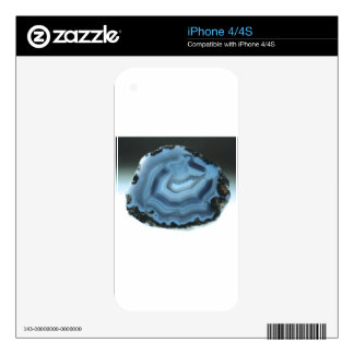 Blue Agate Skins For iPhone 4S