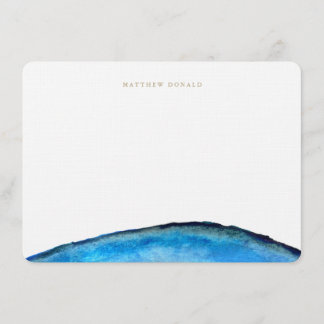 Blue Agate Stationery Note Card