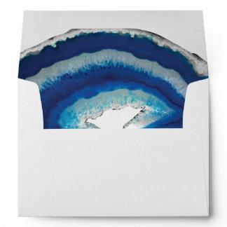 Blue Agate Wedding Envelope