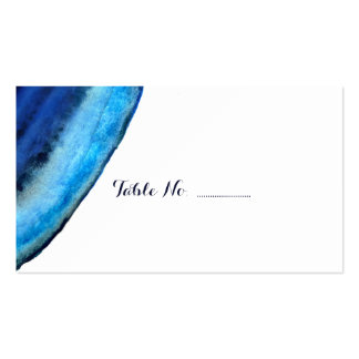 Blue Agate Wedding Place Cards 100 pk Double-Sided Standard Business Cards (Pack Of 100)