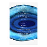 "Blue Agate Wedding Programs 5.5"" X 8.5"" Flyer"