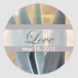 Blue Agave 1 Glow Love Wedding Stickers