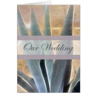 Blue Agave 1 Glow Our Wedding Card