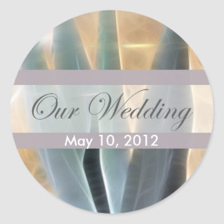 Blue Agave 1 Glow Our Wedding Classic Round Sticker