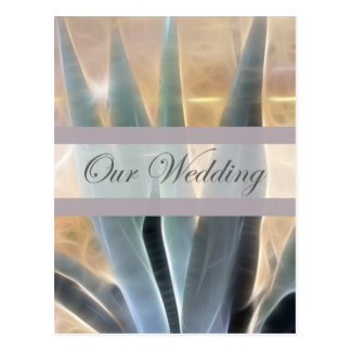 Blue Agave 1 Glow Our Wedding Postcard