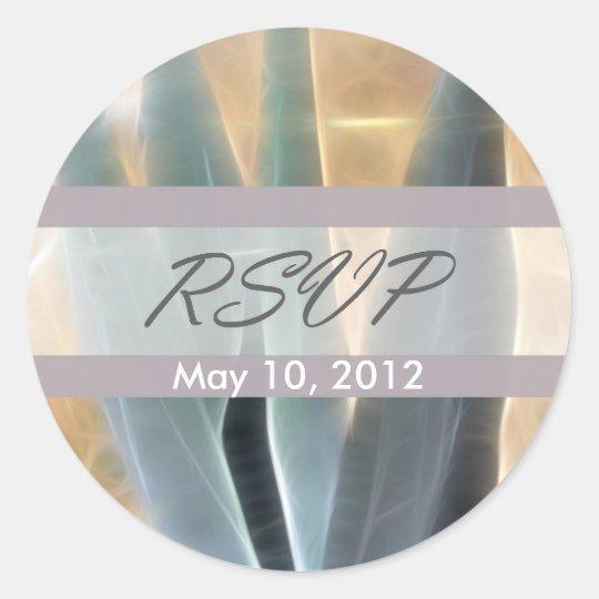 Blue Agave 1 Glow RSVP Wedding Classic Round Sticker