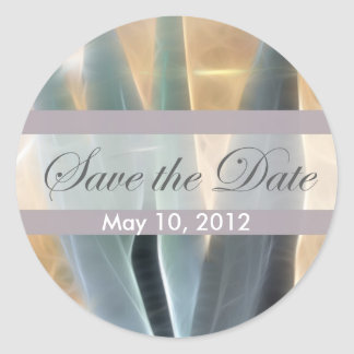 Blue Agave 1 Glow Save the Date Wedding Classic Round Sticker