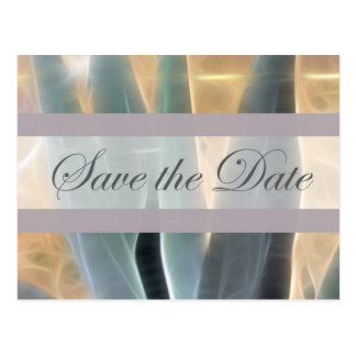 Blue Agave 1 Glow Save the Date Wedding Postcard