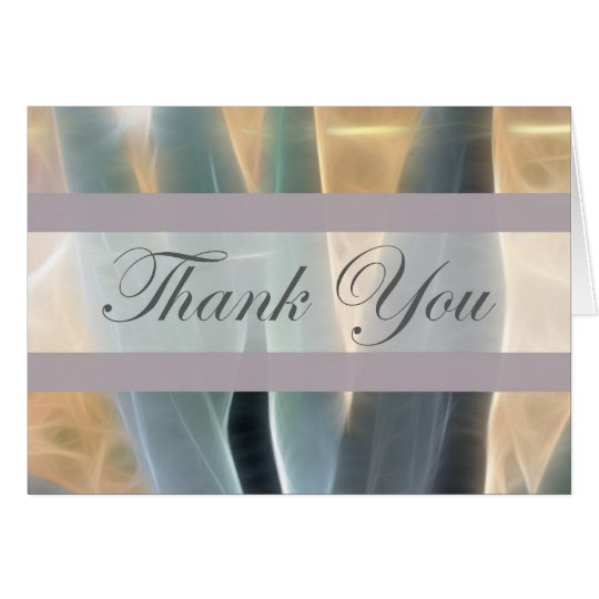 Blue Agave 1 Glow Thank You Card