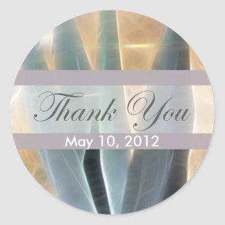 Blue Agave 1 Glow Thank You Classic Round Sticker