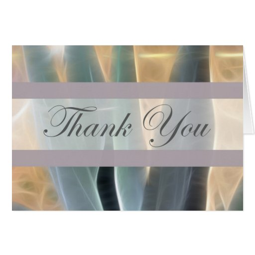 Blue Agave 1 Glow Thank You Greeting Card