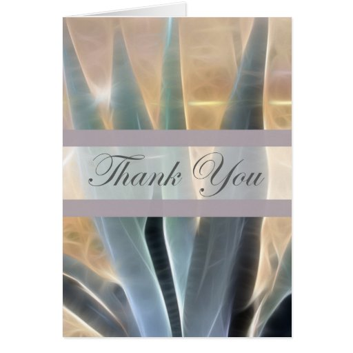 Blue Agave 1 Glow Thank You Greeting Cards