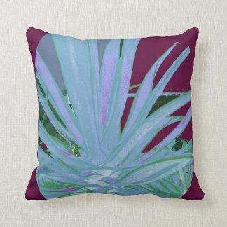 Blue Agave Burgundy Cushion by Sharles Throw Pillow