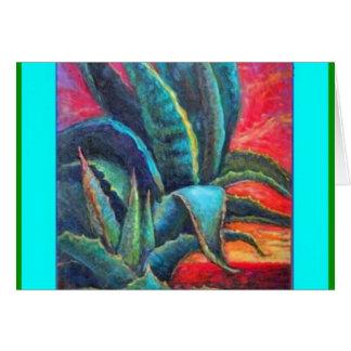 Blue Agave Cacti Sunrise by Sharles Cards