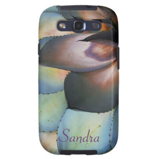 Blue Agave Succulent Galaxy S3 Case *personalize*