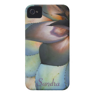 Blue Agave Succulent iPhone 4 Case *personalize*