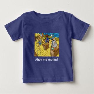 Blue Ahoy me Maties t-shirt for boys 6-24months