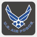 Blue Air Force Logo & Name Square Sticker