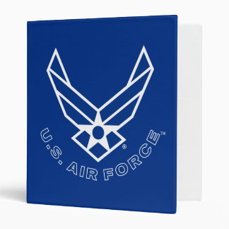 Blue Air Force Logo & Name with Outline Binder