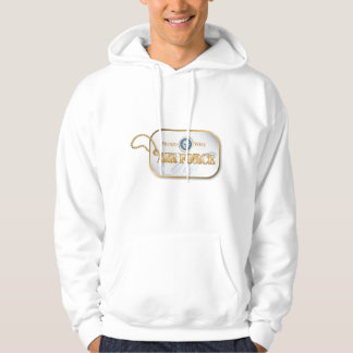 Blue Air Force Wife Dog Tag Hoodie