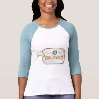 Blue Air Force Wife Dog Tag T Shirt