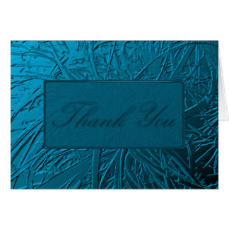 Blue Air Plant Relief Stationery Note Card