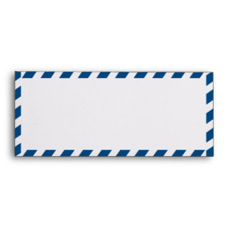 Blue Airmail #10  Envelope