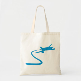 Blue airplane bag