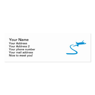 Blue airplane Double-Sided mini business cards (Pack of 20)
